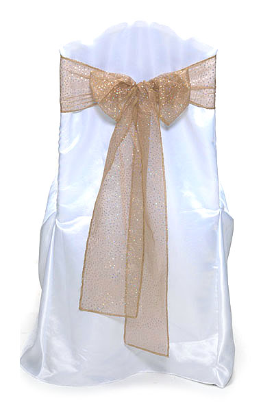 Gold Glitter Net Tie