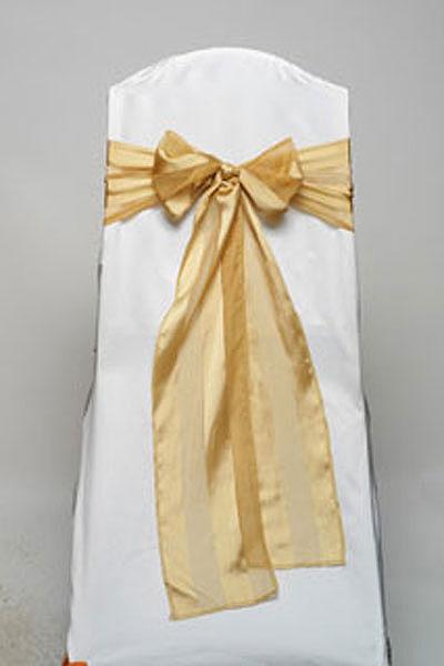 Gold Regal Stripe Tie