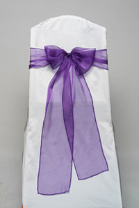 Purple Organdy Tie