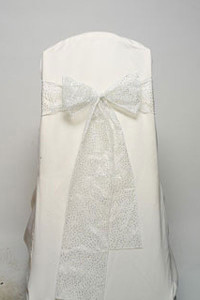 White Glitter Net Tie