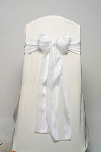 White Regal Stripe Tie