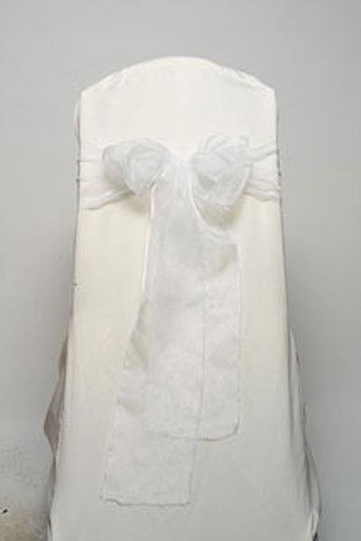 White Organdy Tie