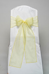 Yellow Organdy Tie