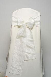 Ivory Crushed Taffeta Tie