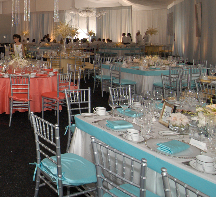 ... Tiffany Blue Lamour Chair Pad Cover ...