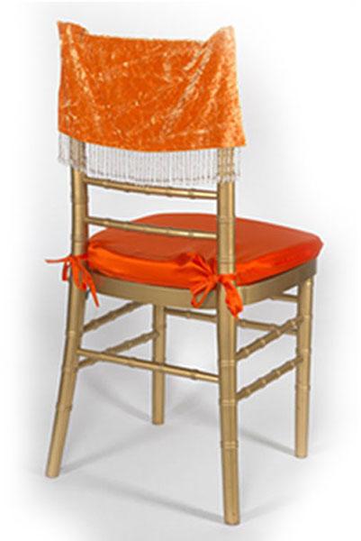 Topaz Crushed Velvet Chair Cap