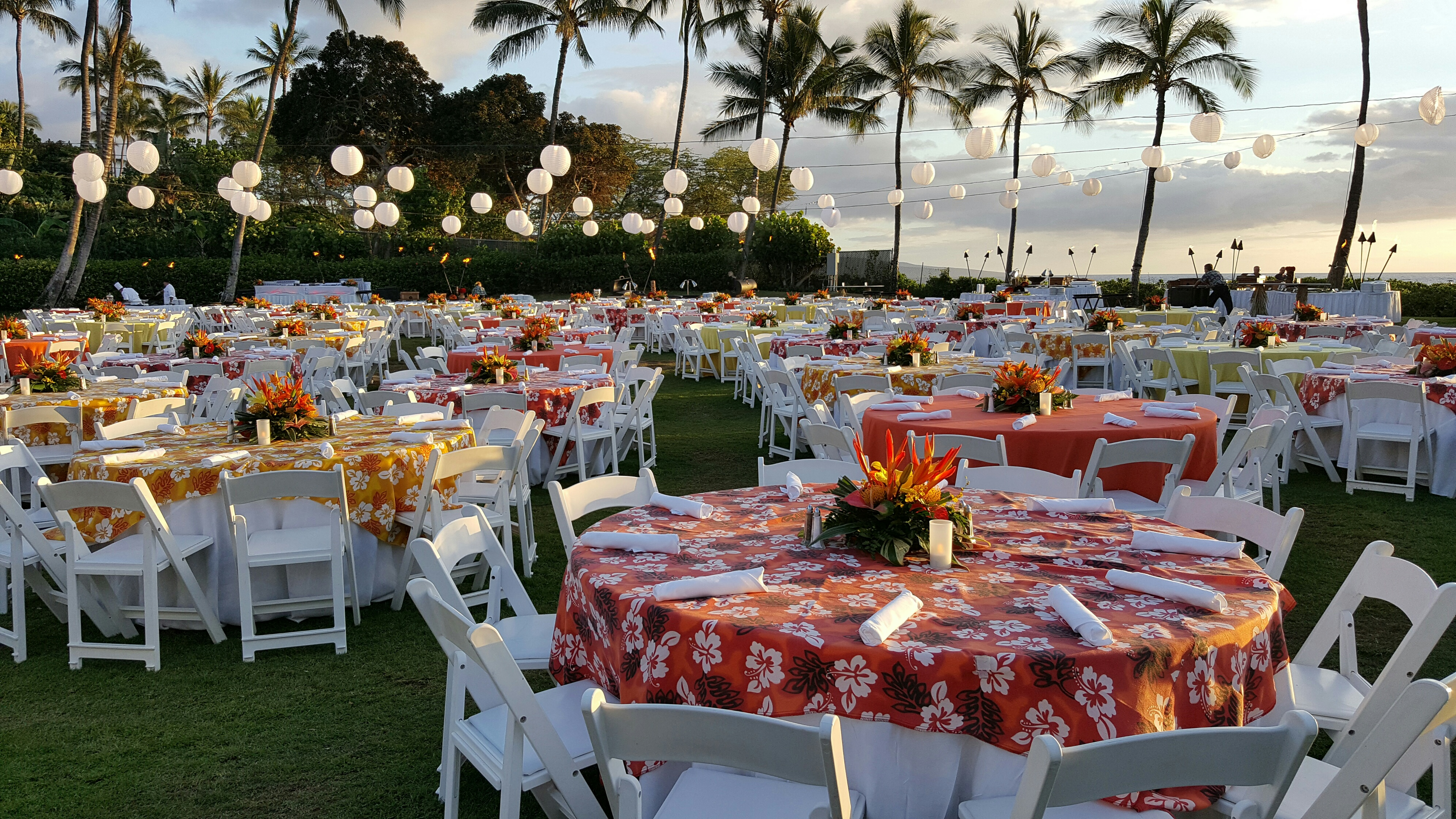 Wedding And Special Event Yellow Orange Luau For Rent