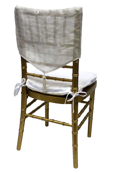 White Paylette with Tassel Chair Cap