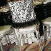 Black & White Burnout Velvet Chair Cap