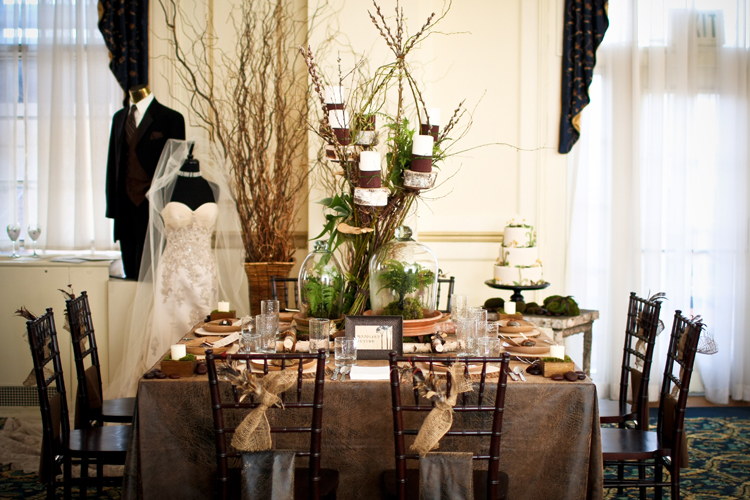 Distressed Leather Table Linen Rental Tablecloth
