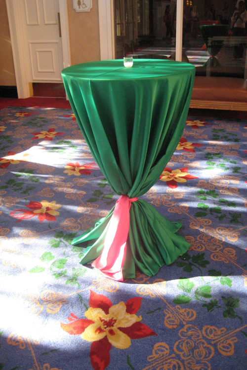 Emerald Lamour Table Linen Rental Tablecloth