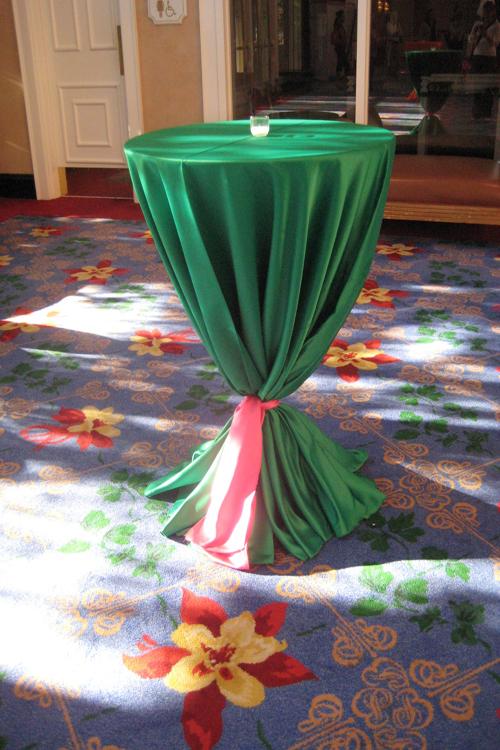 Emerald Lamour Table Linen Rental Tablecloth