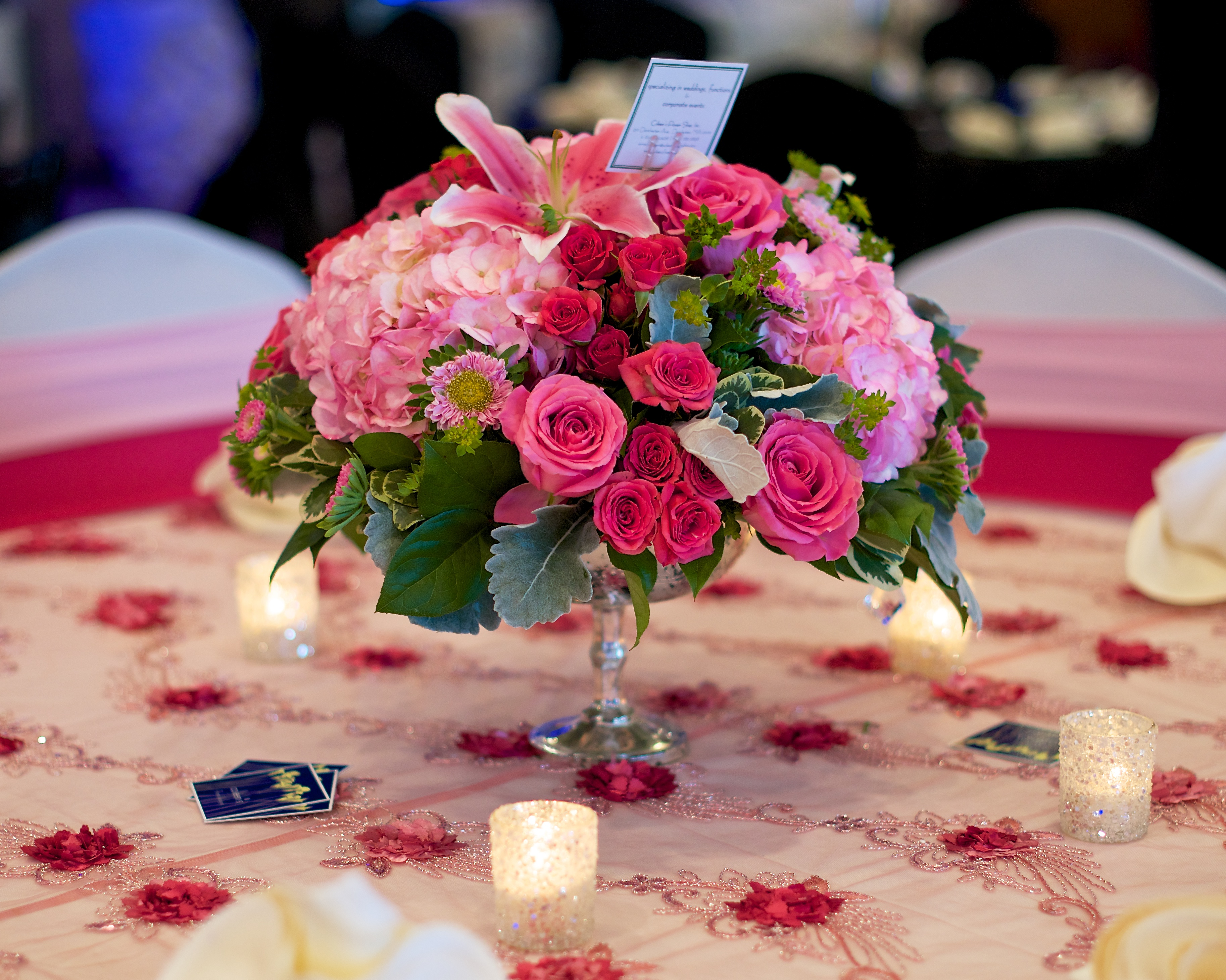 fuschia pink floral bouquet gallery 1