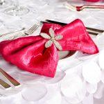 Fuchsia Crushed Shimmer Napkin