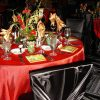 Red Organdy with Satin Border