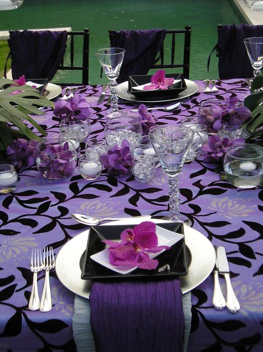 Wedding And Special Event Wysteria Garden Flock Taffeta