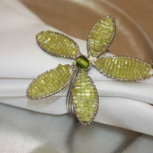Green Beaded Flower