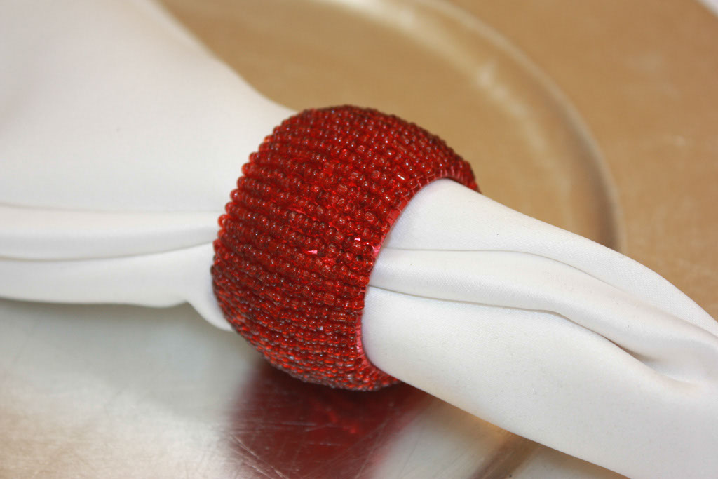 Red Beaded Barrel