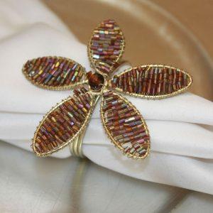 Copper Beaded Flower