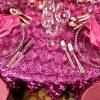 Fuchsia Ribbon Swirl Taffeta