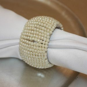 Ivory Beaded Barrel