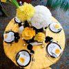Sunflower Ribbon Swirl Taffeta
