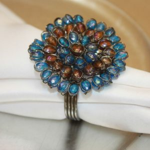 Turquoise Jeweled Blossom