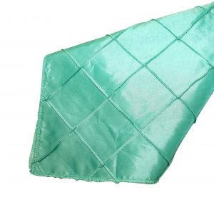 Turquoise Gold Pintuck Napkin