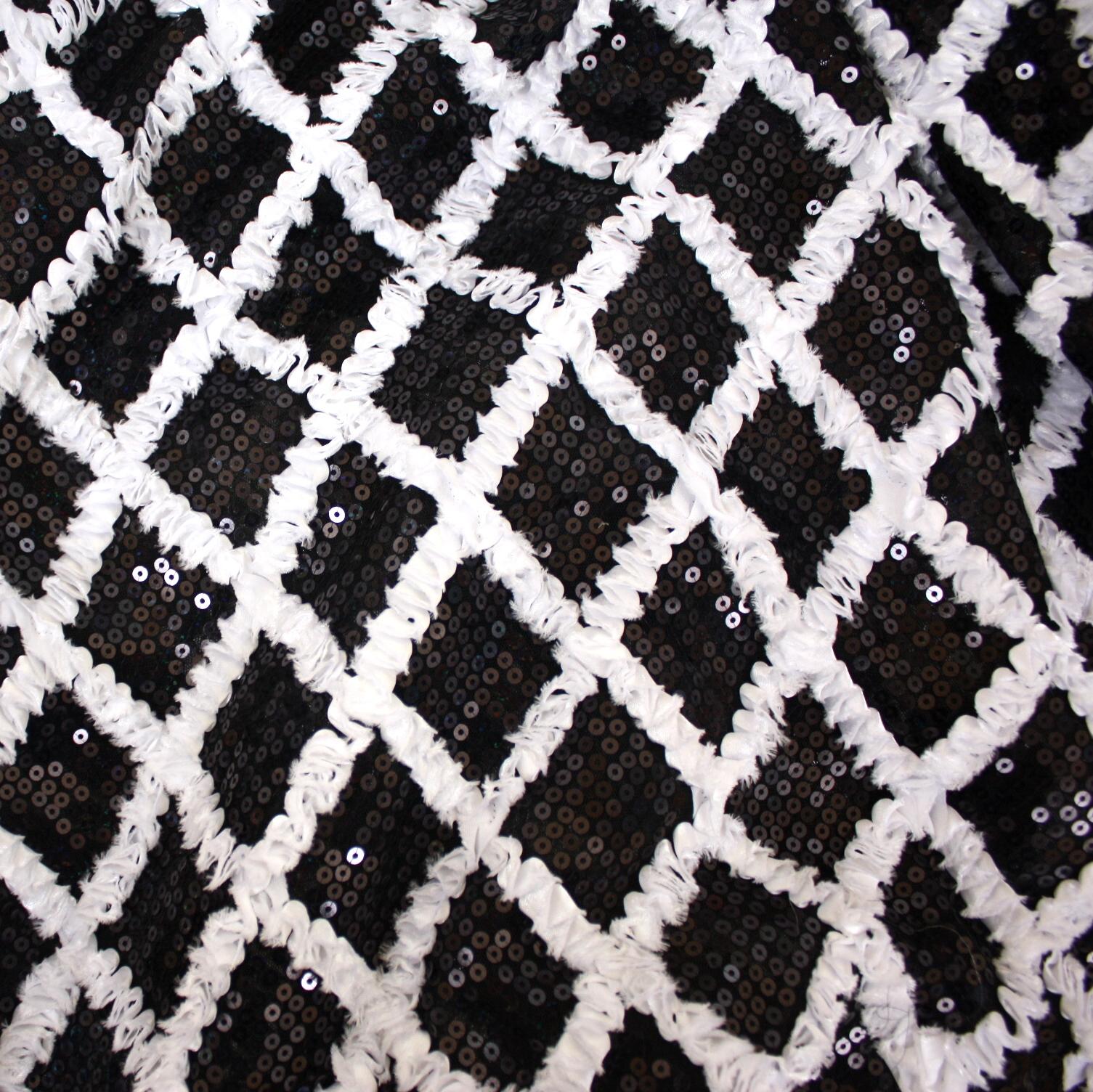 Black&WhiteSequinRuffle