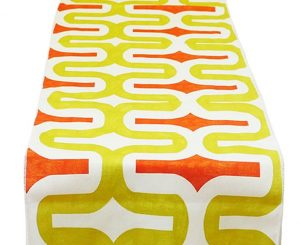 Avocado Mandarin Deco Table Runner