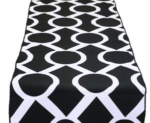 Black White Metro Table Runner
