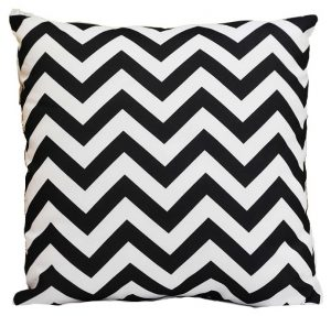 Black and White Chevron Pillow 2