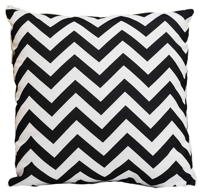 Black and White Chevron Pillow 2