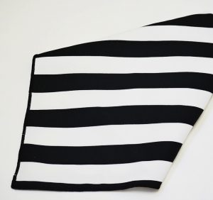 Black and White Stripe Napkin
