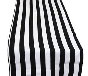 Black and White Stripe Runner