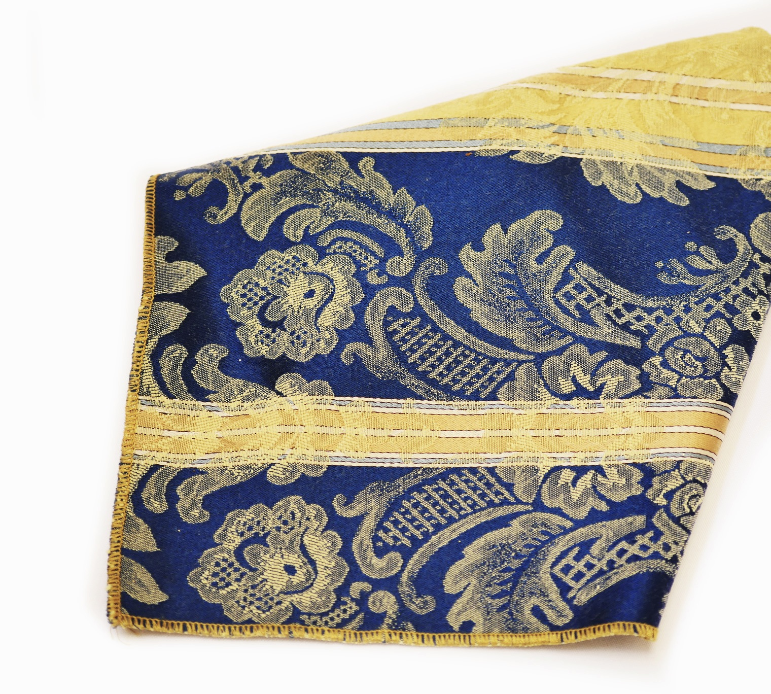 Blue Italian Stripe Damask Napkins