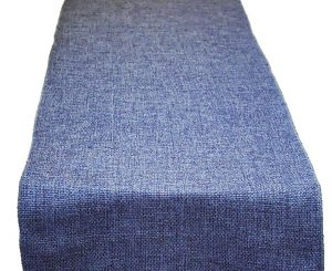 Denim Poly Burlap Table Runner
