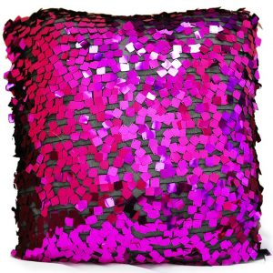 Fuchsia Disco Paylette Pillow