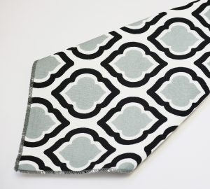 Grey Black Diamonte Napkin