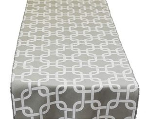 Grey Links Table Runner