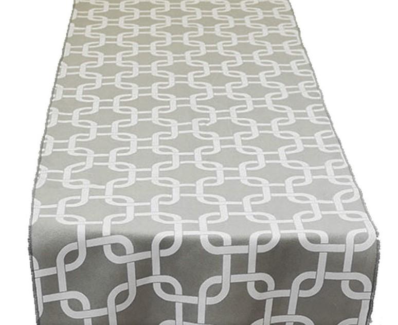 Grey Links Table Runner