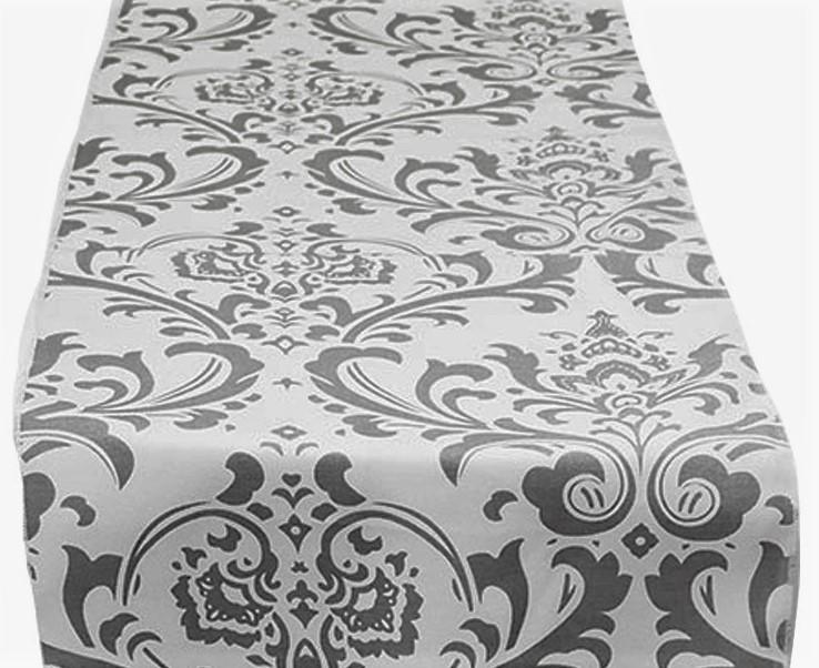 Grey Tuscany Table Runner