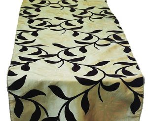 Lagoon Garden Flock Table Runner