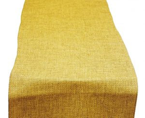 Maize Poly Burlap Table Runner