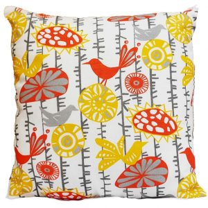 Mandarin Yellow Melange Pillow