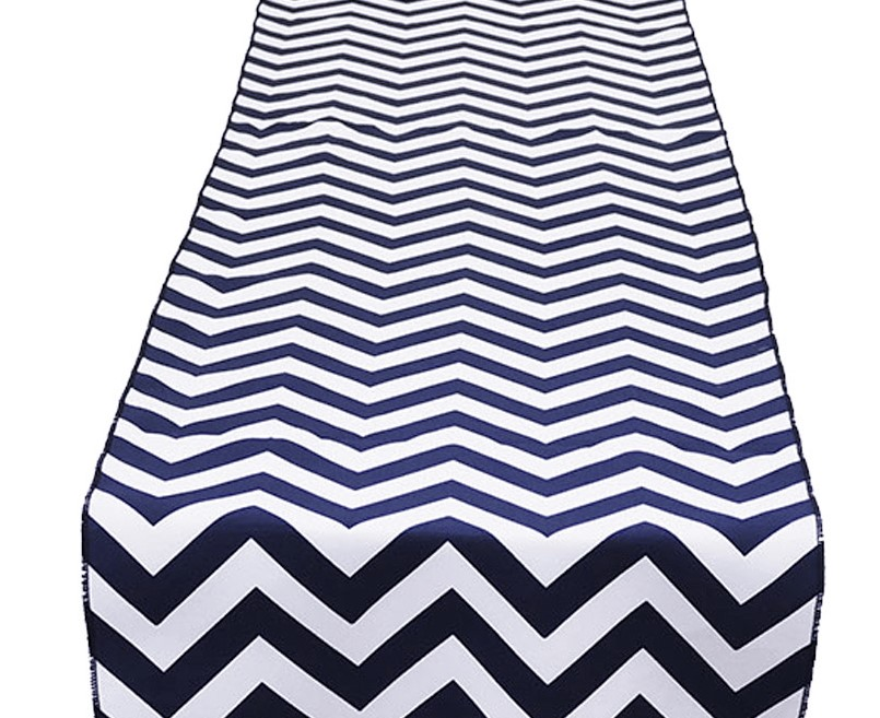 Navy Chevron Table Runner