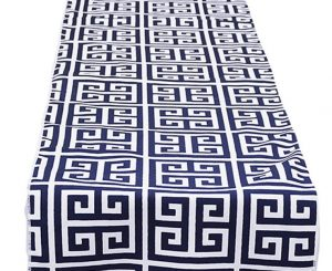 Navy Mykonos Table Runner