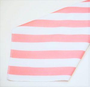 Pink White Stripe Napkin2
