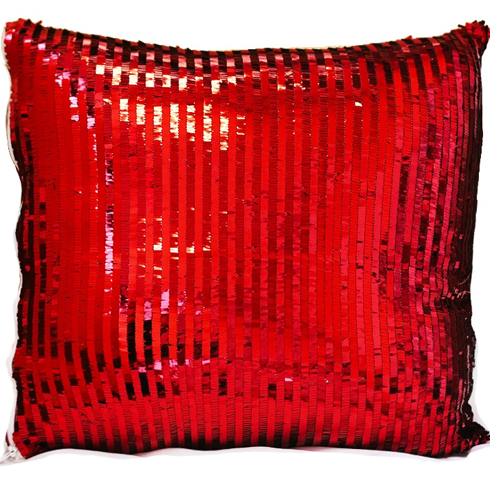 Red Piano Sequin Pillow