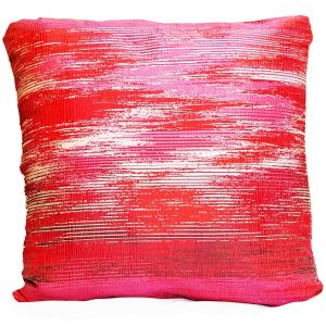 Ruby Silver Metallic Weave Pillow